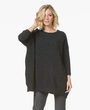 Oversized Trui.American Vintage Oversized Sweater Anthracite Mala245 Anthch