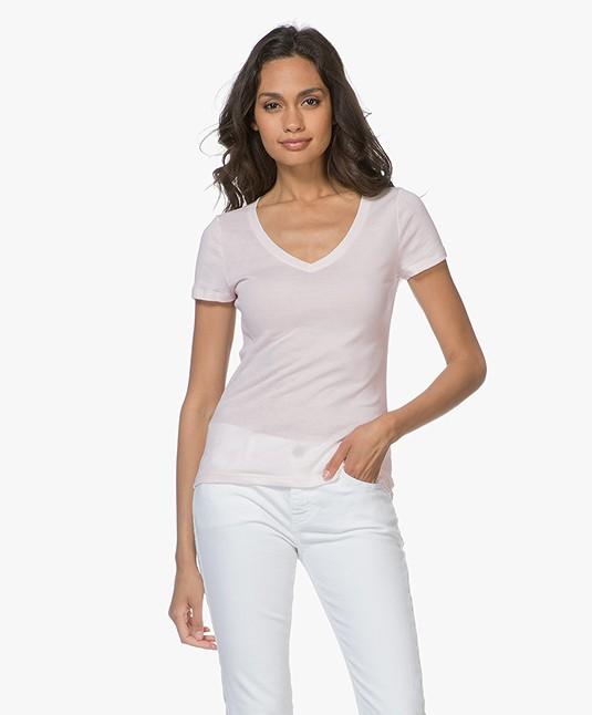 Petit Bateau V Hals T Shirt In Lichte Katoen Fleur 46550 Fleur