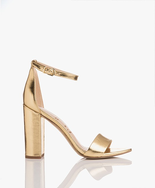 6e9bba892 Sam Edelman Yaro Heeled Sandals - Bright Gold - yaro e8511l0922