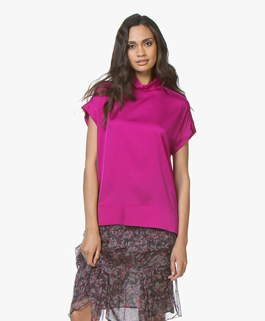 b319c434785cda Home  »  blouses   tunics  »  short sleeves · By Malene Birger. Candillon  Silk Blouse Top Clear Pink
