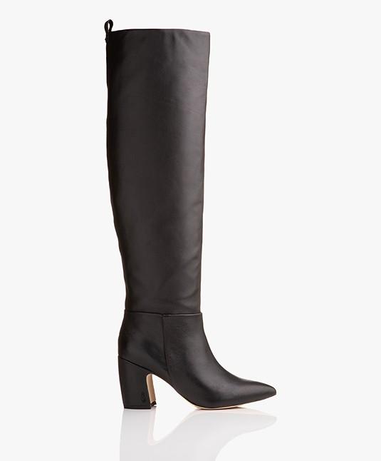 a0ade5e66c7f34 Home  »  shoes  »  boots · Sam Edelman. Hutton Nappa Leather Boots Black