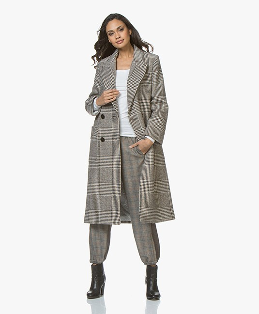 Velsete Zadig & Voltaire Mask Fantaisie Long Jacquard Coat - Brown - mask NR-31