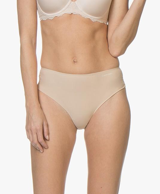 2e576423a2 Calvin Klein Invisibles High Waist Thong - Bare - qf4982e 20n - bare