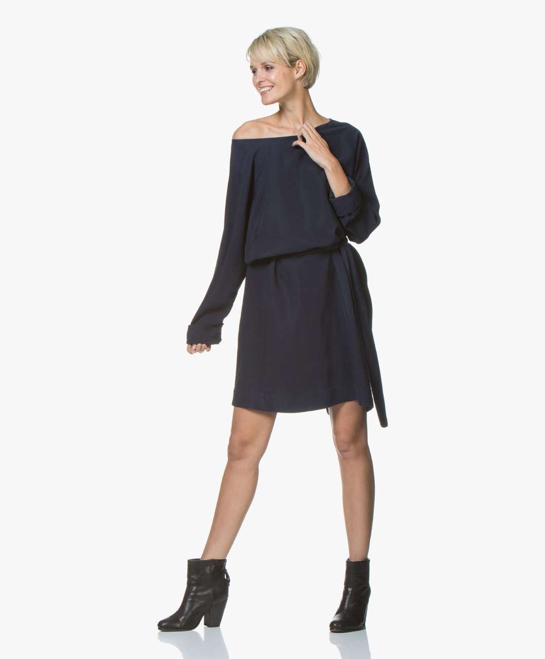 Immagine di American Vintage Dress Nalastate Lyocell in Navy