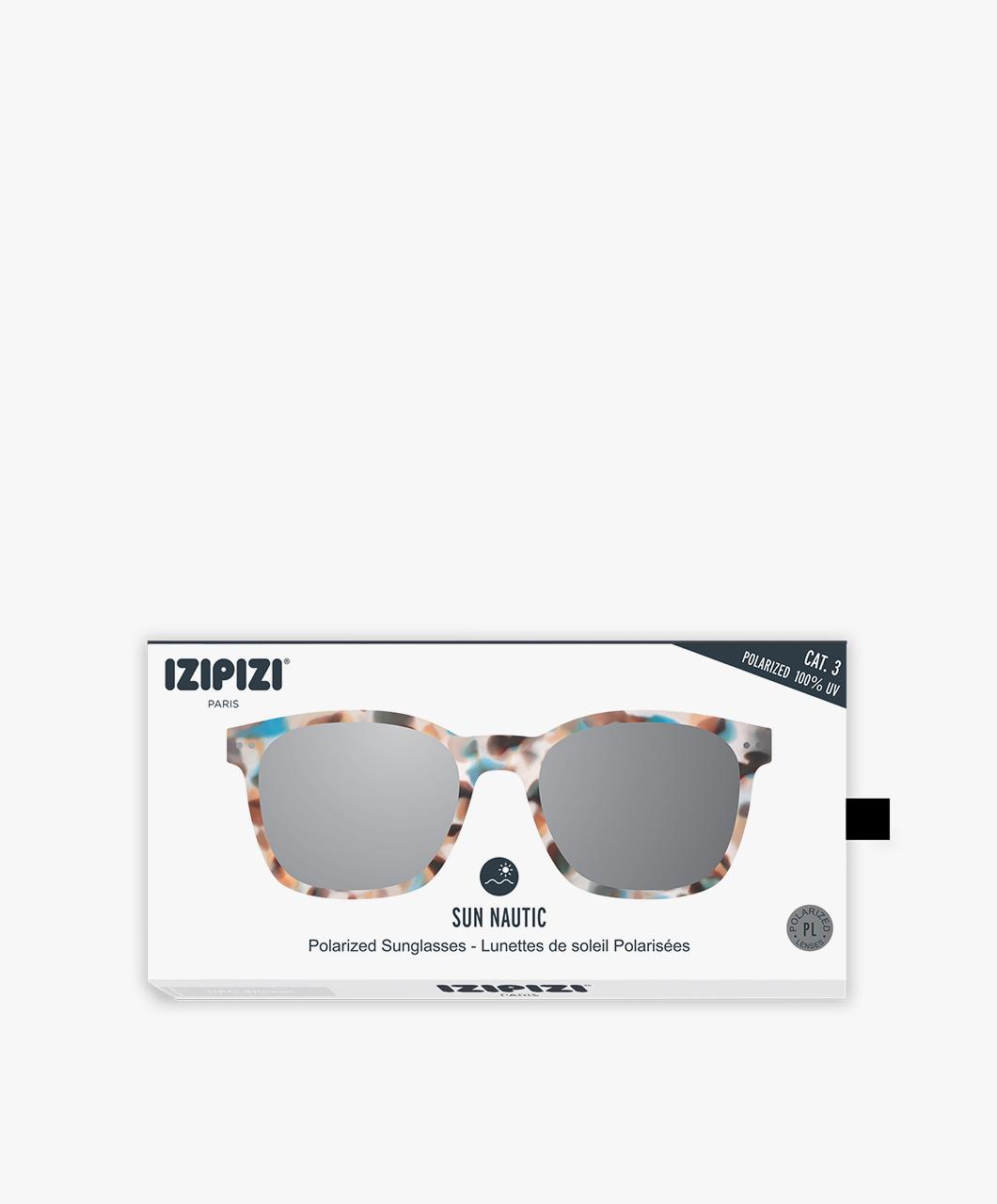 51aab186d46 IZIPIZI Sun Nautic Polarized Sunglasses - Blue Tortoise Green Lenses - sun  nautic tortoise
