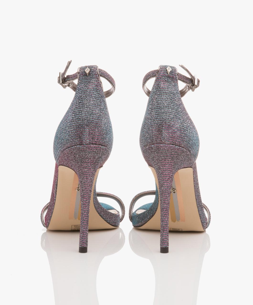 9132876fc4aa Sam Edelman Ariella Flash Glitz Ankle Strap Sandals - Pink Blue Multi -  ariella pink  multi