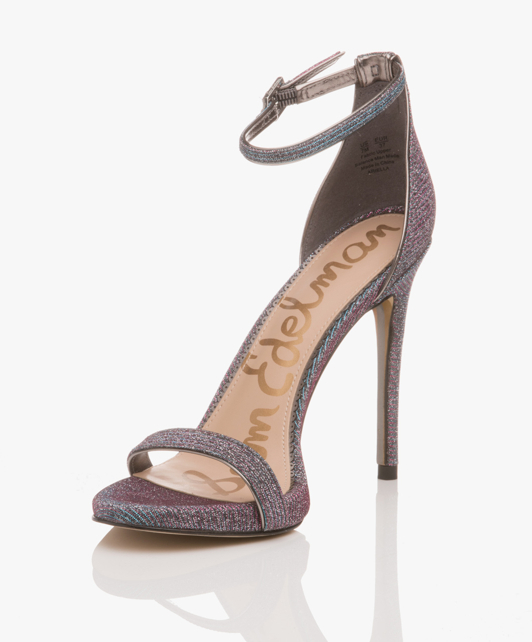 599b2be881e Sam Edelman Ariella Flash Glitz Ankle Strap Sandals - Pink/Blue ...
