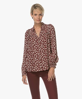 Ba&sh Collin Blouse - Bordeaux