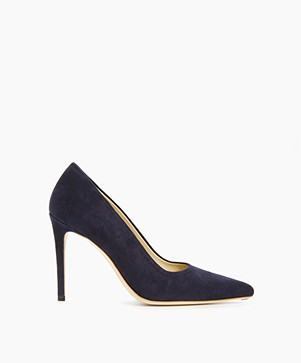 Feraggio Suede Pumps - Midnight Blue