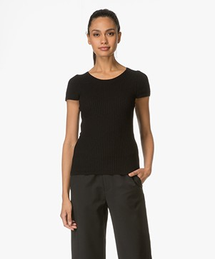 Sibin/Linnebjerg Agata Cotton Top - Black