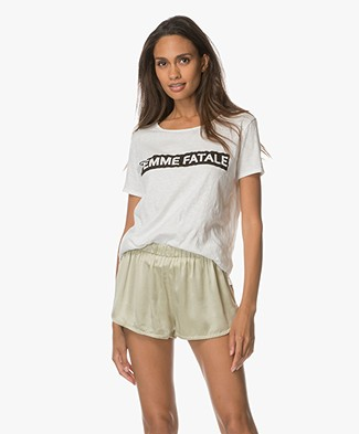Ba&sh Lexy Statement T-shirt - Wit