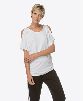 Baukjen Ros Cold Shoulder Top - Puur Wit