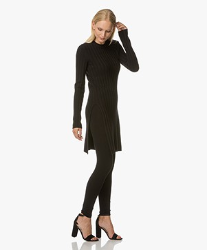 Joseph Rib Knit Tunic - Black