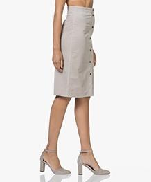 Filippa K Corduroy Skirt - Stone