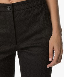 no man's land Jacquard Pants - Core Black