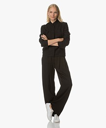 Filippa K Boiled Wool Jack - Zwart