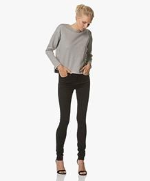 BY-BAR Dia Tweed Sweater - Lichtgrijs