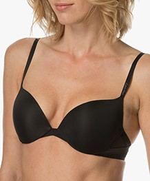 Calvin Klein Sculpted Plunge Push-up BH - Zwart