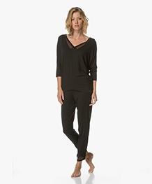 Calvin Klein T-shirt in Modal Jersey - Black