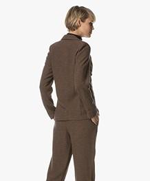 Indi & Cold Americana Wool Blend Blazer - Tabaco