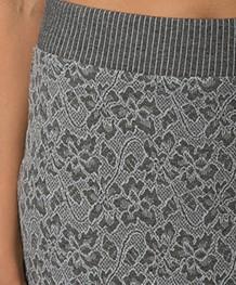 Kyra & Ko Renee Jacquard Pencil Skirt - Grey