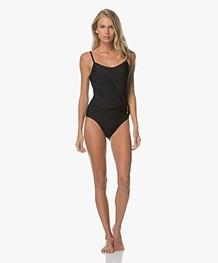 Calvin Klein Classic Wrap Swimsuit - Black