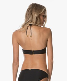 Calvin Klein Front Twist Bandeau Bikini Top - Black