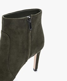 Sam Edelman Olette Suede Ankle Boots - Deep Forest