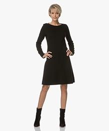Majestic Knit Dress with Cashmere - Black