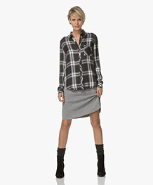Majestic Double Jersey A-line Skirt - Grey Heather