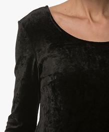 no man's land Velvet Shirt - Core Black