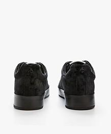 Rag & Bone RB1 Low Velvet Sneakers - Black Velvet