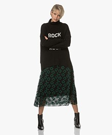 BY-BAR Limited Embroidery Lace Midi Skirt - Green