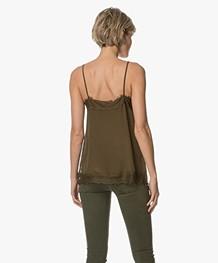 FWSS Linda Zijden Camisole - Bronze Green