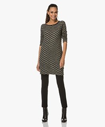 Kyra & Ko Dania Jacquard Tunic Dress - Moss
