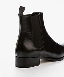 Panara Chelsea Leather Boots - Dark Brown