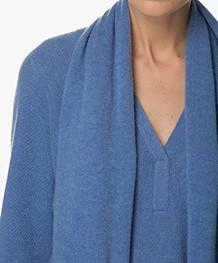 Repeat Cashmere Sjaal - Blauw