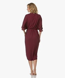 Calvin Klein Kimono Bathrobe in Modal Jersey - Brazen