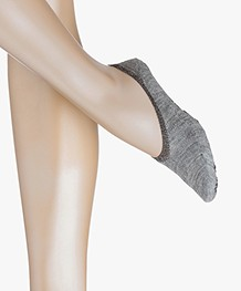 FALKE Cosy Ballerina Women No Show Socks - Light Grey Melange