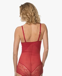 SPANX® Spotlight on Lace Bodysuit - Red Pop