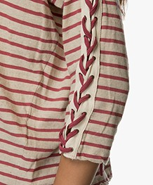 Project AJ117 Marlon Striped Long Sleeve - Garnet