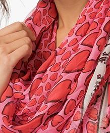 Zadig et Voltaire Kerry Heart Modal Sjaal - Japon