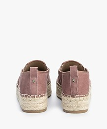 Sam Edelman Carrin Platform Espadrilles - Dusty Rose