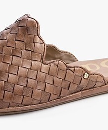 Sam Edelman Katy Loafer Mules - Luggage