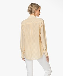 Joseph Deck Chair Stripe Zijden Blouse - Custard