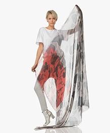 Zadig & Voltaire Delta Mix Camouflage Sjaal - Grijs