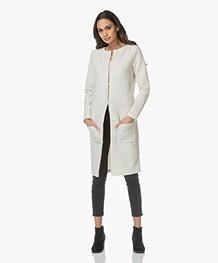 Josephine & Co Laurinde Lange Jersey Blazer - Silver Grey