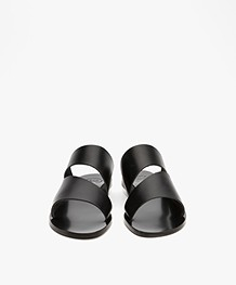 ATP Atelier Lis Leather Slipper Sandals - Black