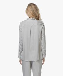 Calvin Klein Gestreepte Pyjama Blouse - Gaze