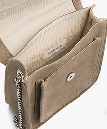 indi & cold Suede Shoulder Bag - Humo